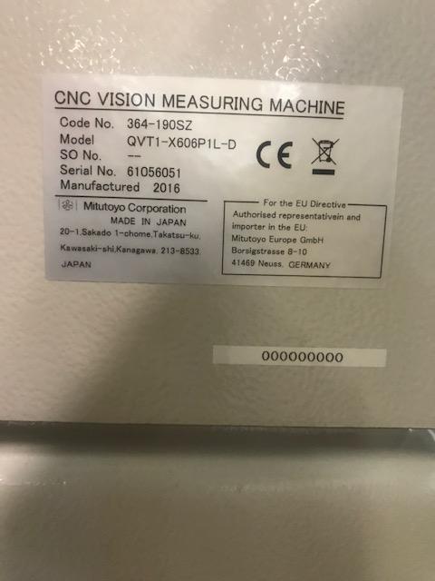 MITUTOYOMitutoyo CNC Quick Vision Apex 606 Pro, Vision Measuring System