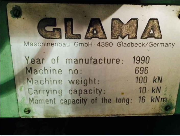 Glama GSM Rail Bound Forging Manipulator