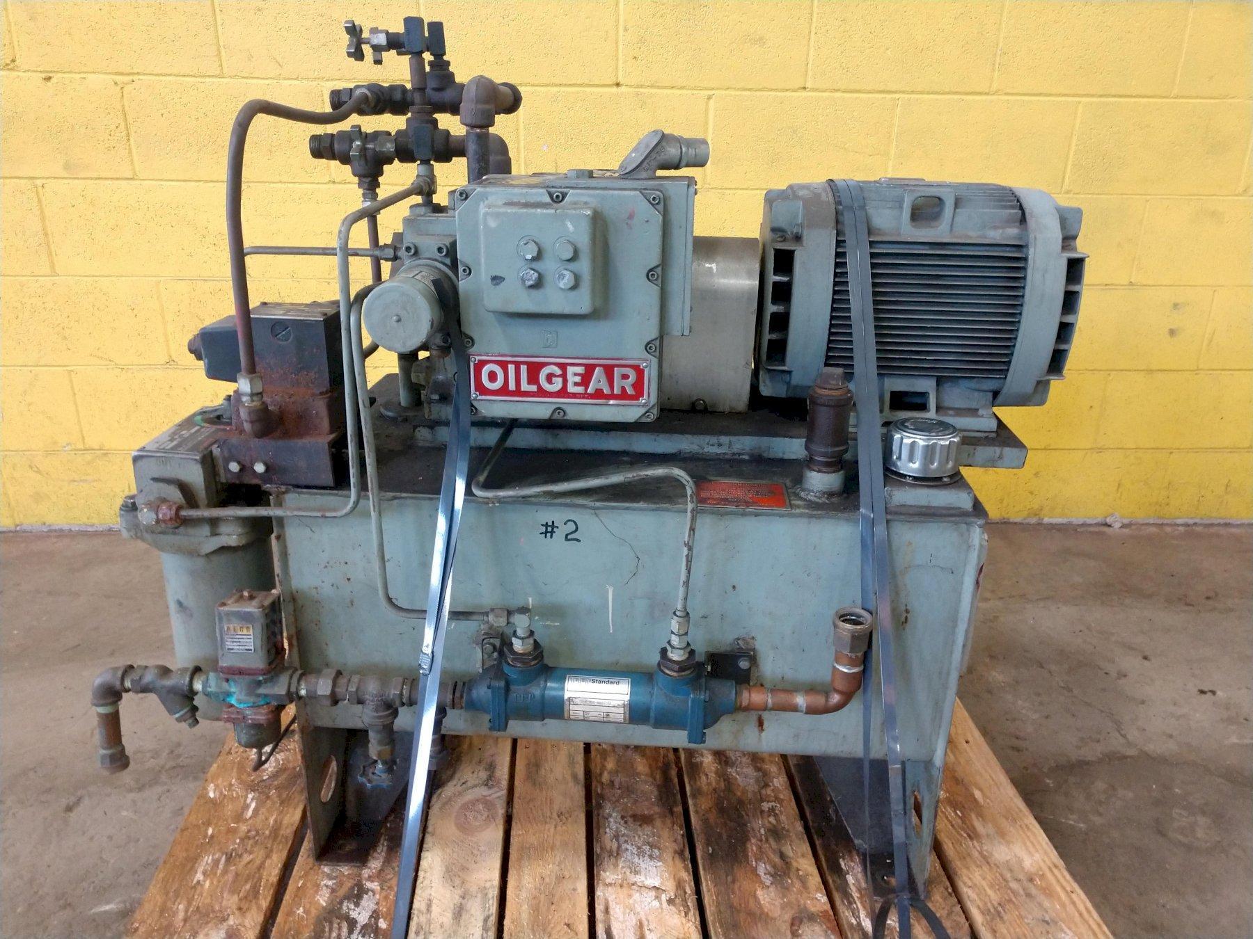 10 HP OIL GEAR MODEL AV-811-V HYDRUALIC PUMP WITH MOTOR & TANK: STOCK #14461
