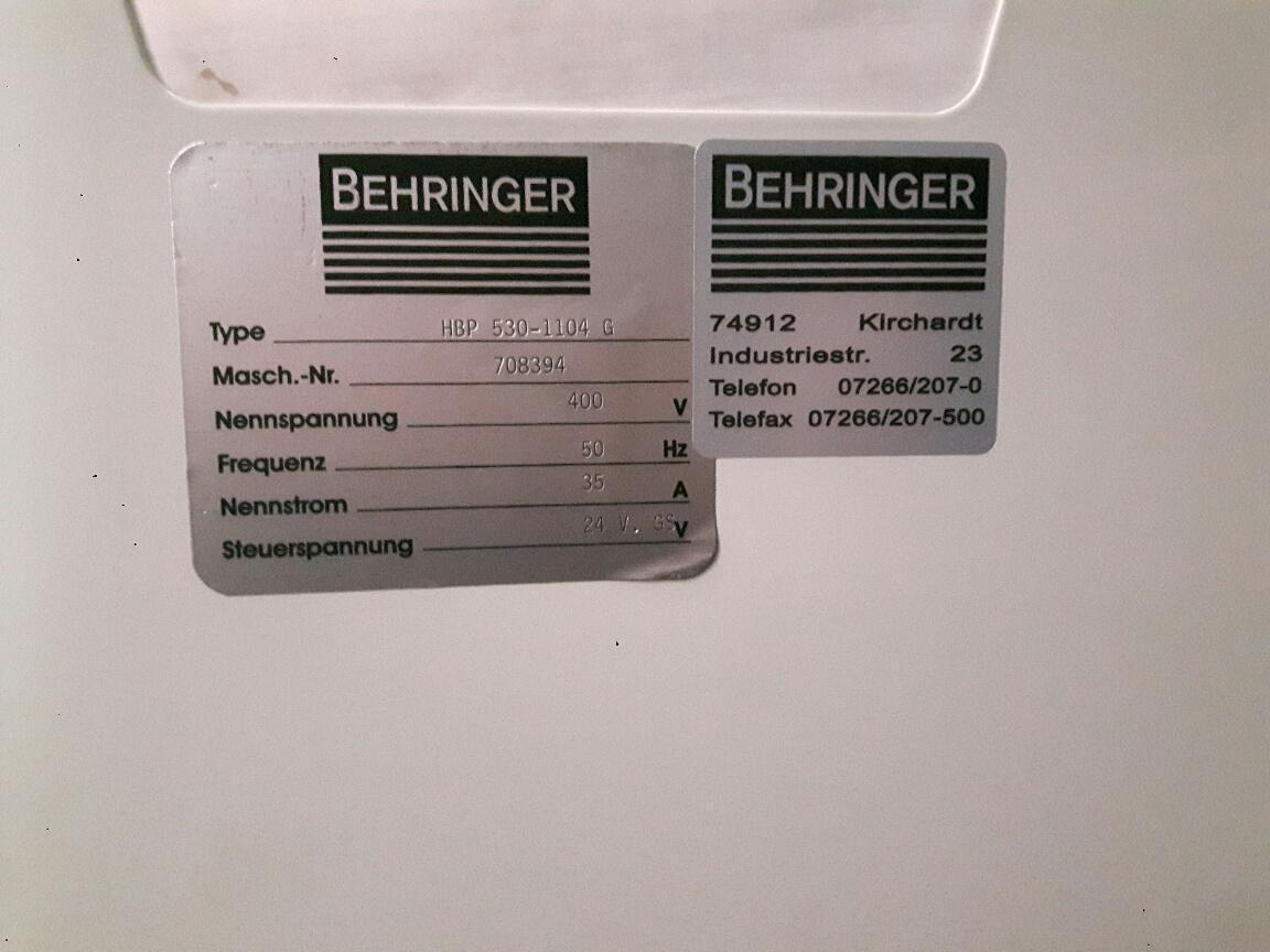 Behringer Band Saw Line