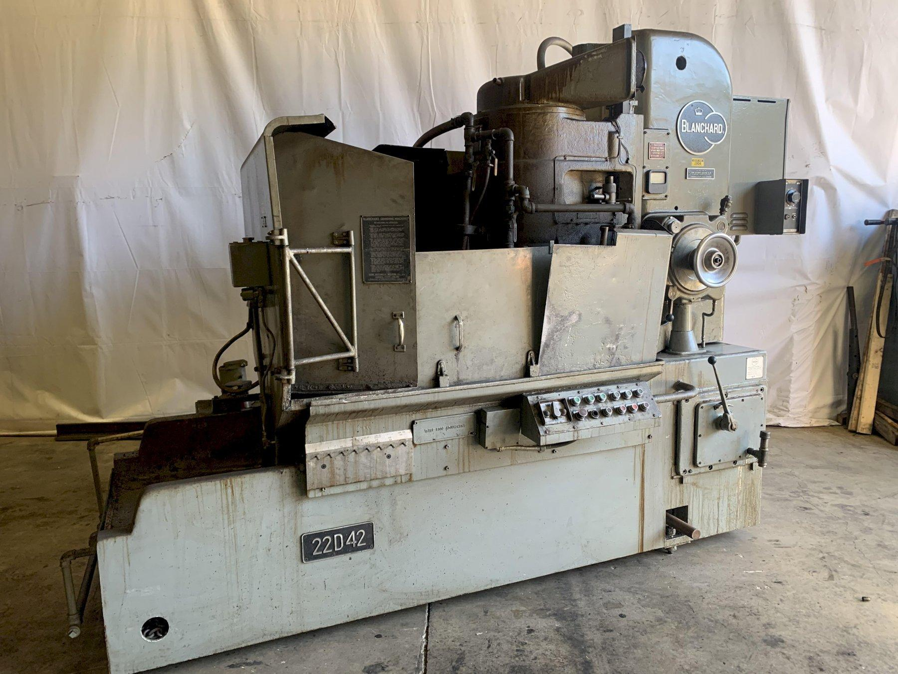 "42"" BLANCHARD MODEL #22-D-42 ROTARY SURFACE GRINDER: STOCK 13615"