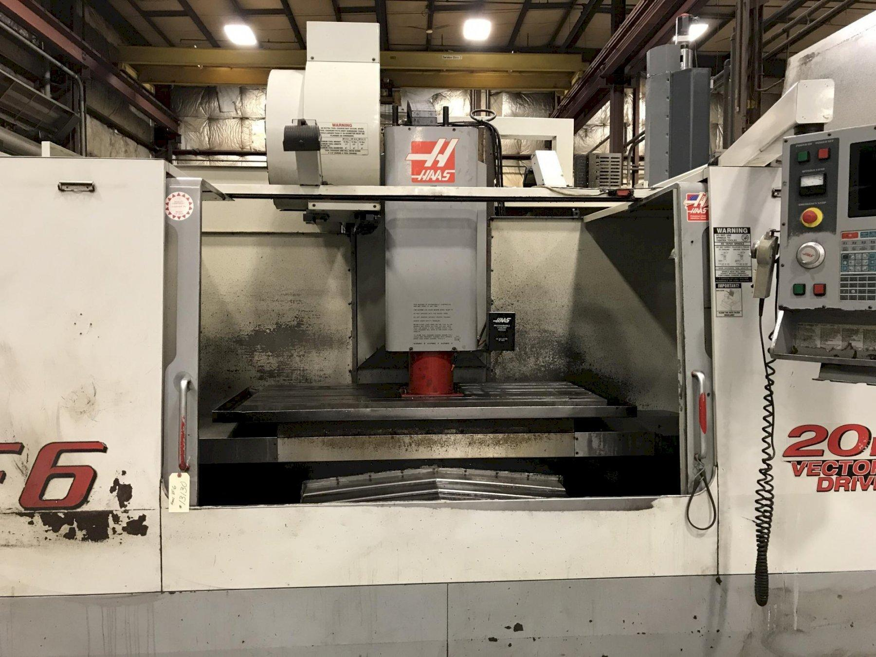 HAAS MODEL VF-6 VERTICAL MACHINING CENTER
