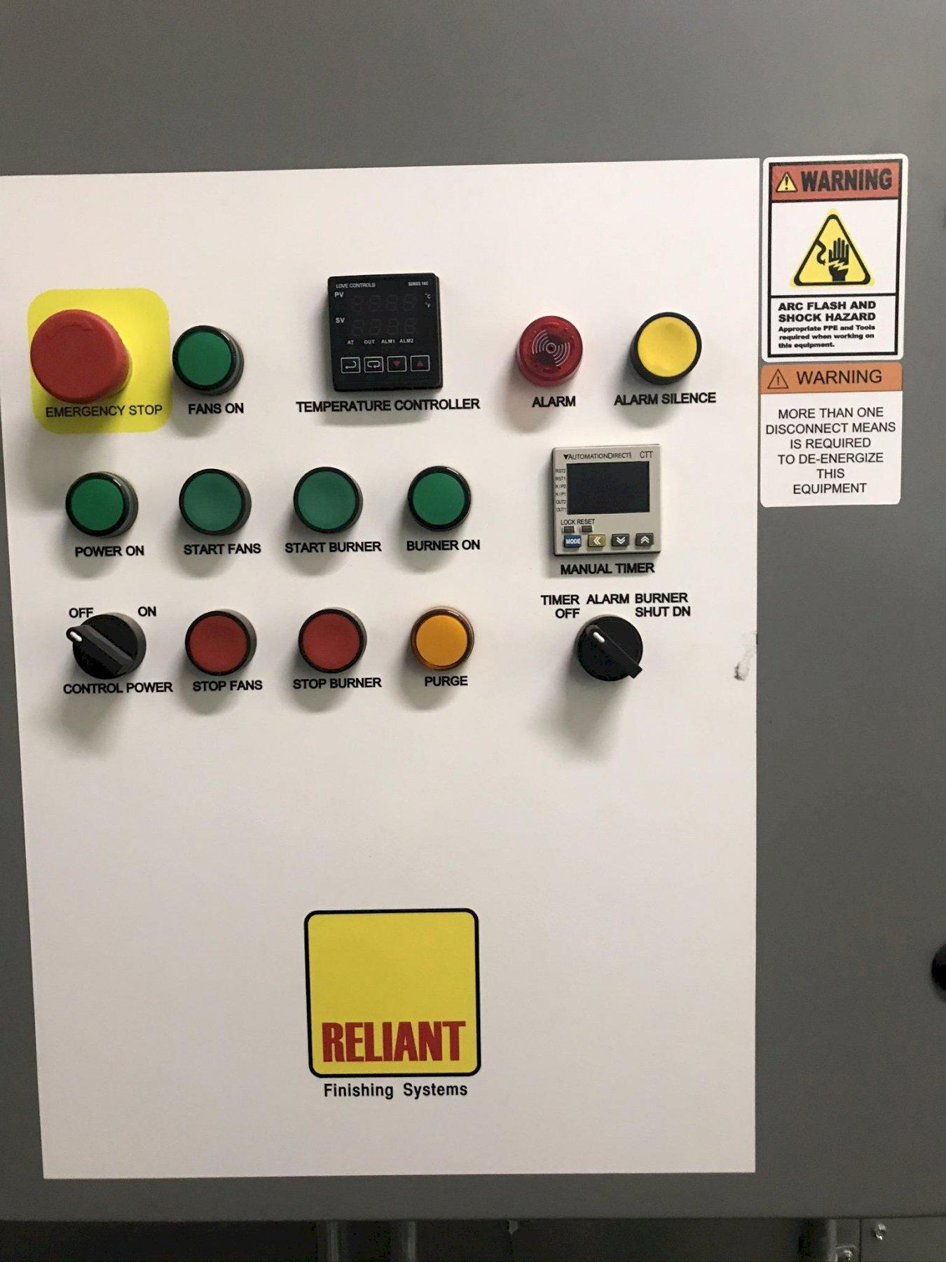 USED RELIANT FINISHING SYSTEMS MANUAL POWDER COATING SYSTEM, Stock # 10776, Year 2019