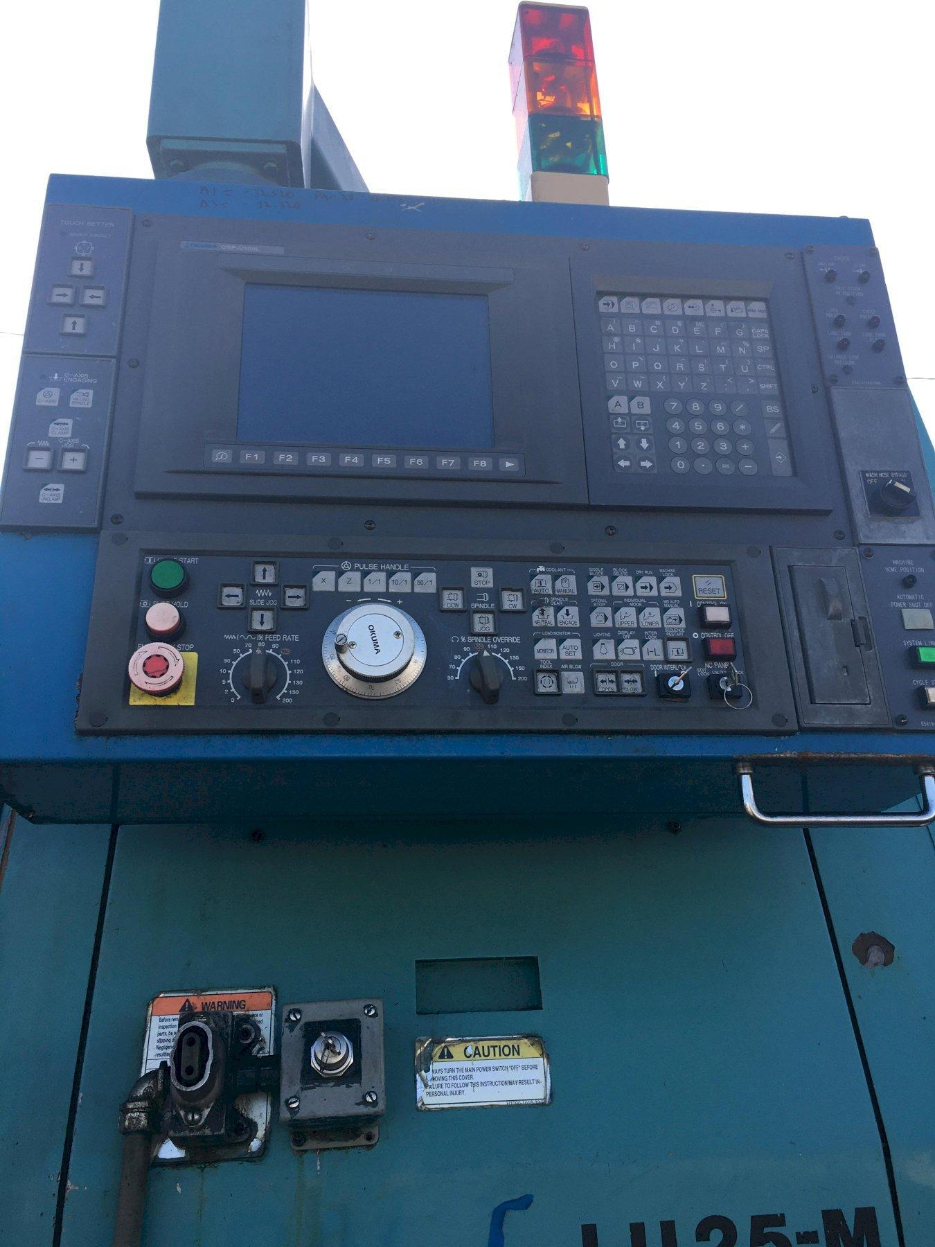 Okuma Impact LU25M Twin Turret Live Tool Turning Centers