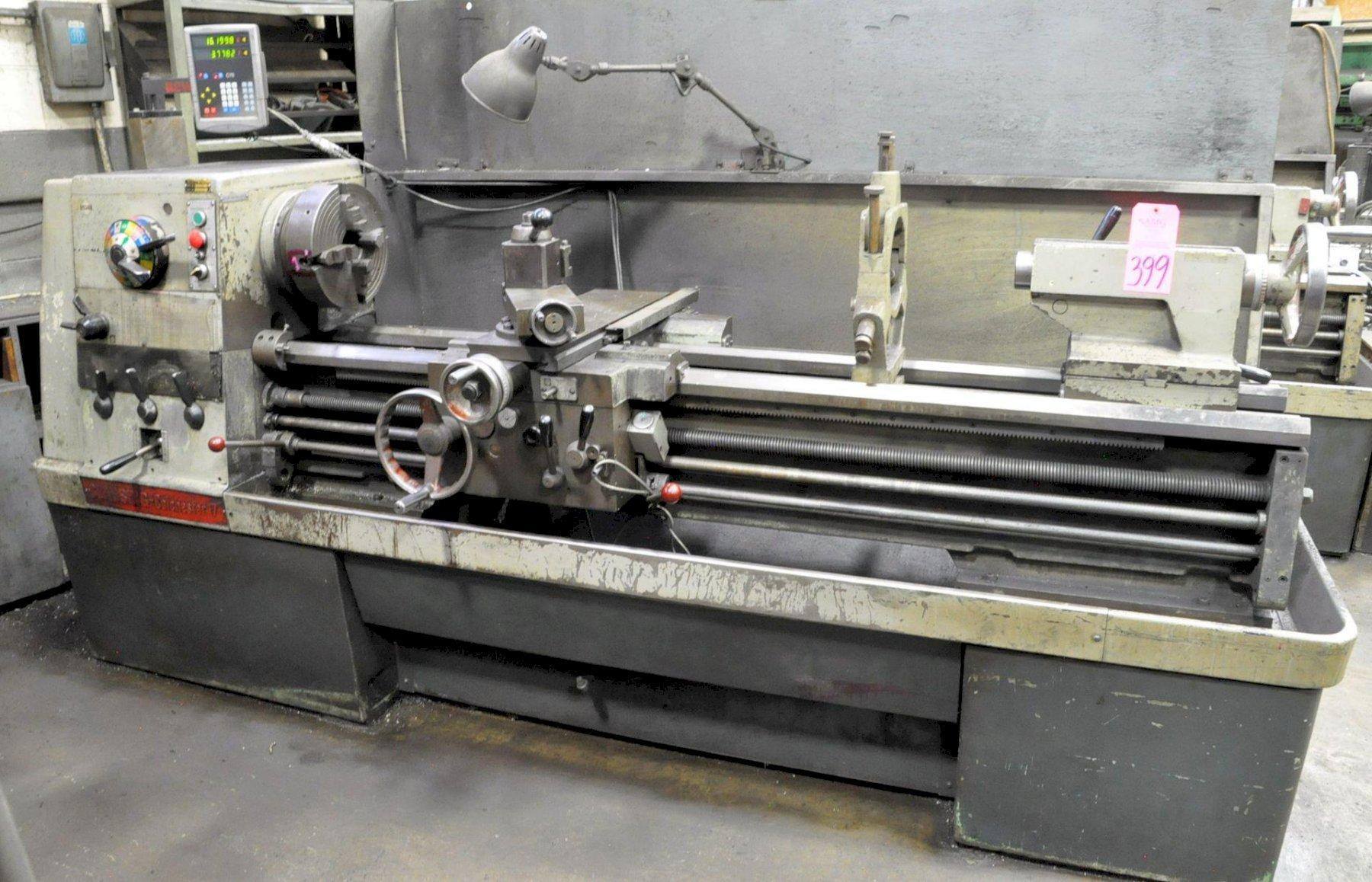 "17"" X 60"" CLAUSING COLCHESTER ENGINE LATHE: STOCK #73741"
