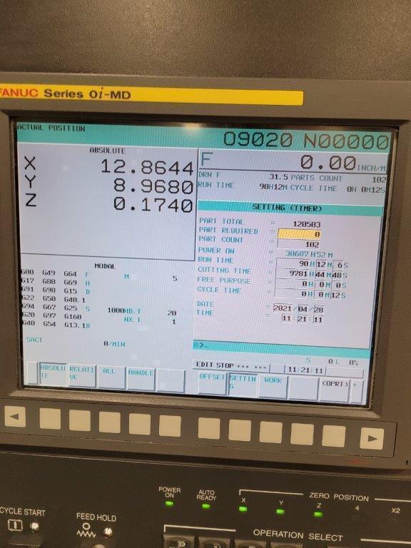 Hwacheon Vesta 1050B CNC Vertical Machining Center