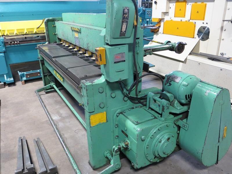 10 Ga x 6 ft Wysong Mechanical Power Shear Model 1072