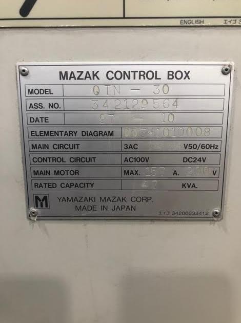 MAZAKMazak QTN-30 CNC Lathe