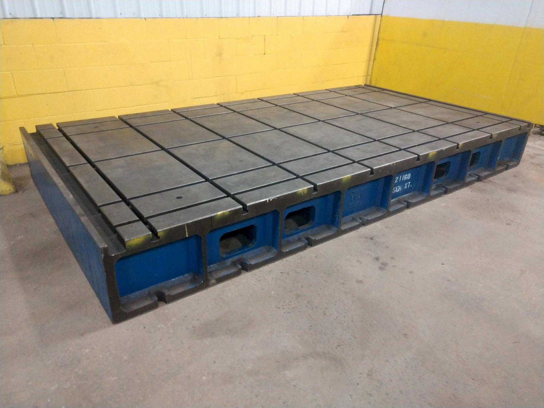 """84"""" X 160"""" X 17"""" H T-SLOTTED LAYOUT TABLE / RISER PLATE: STOCK #14200"""
