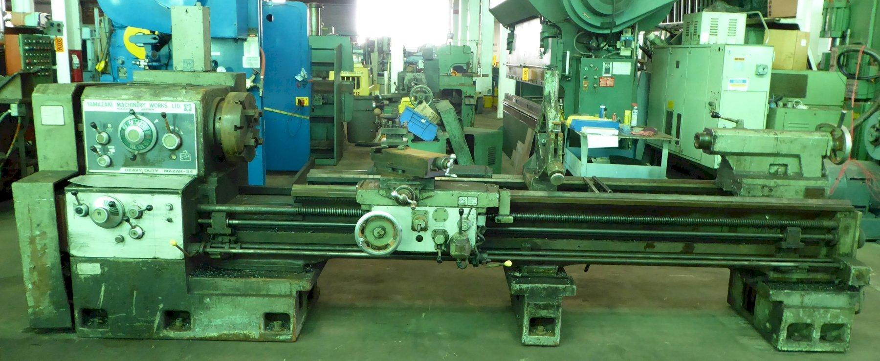 "24""/40"" x 100"" Mazak Lathe, Gap Bed, 12-1200 RPM, Inch/mm, 4"" Hole, 20 HP, Low Price"