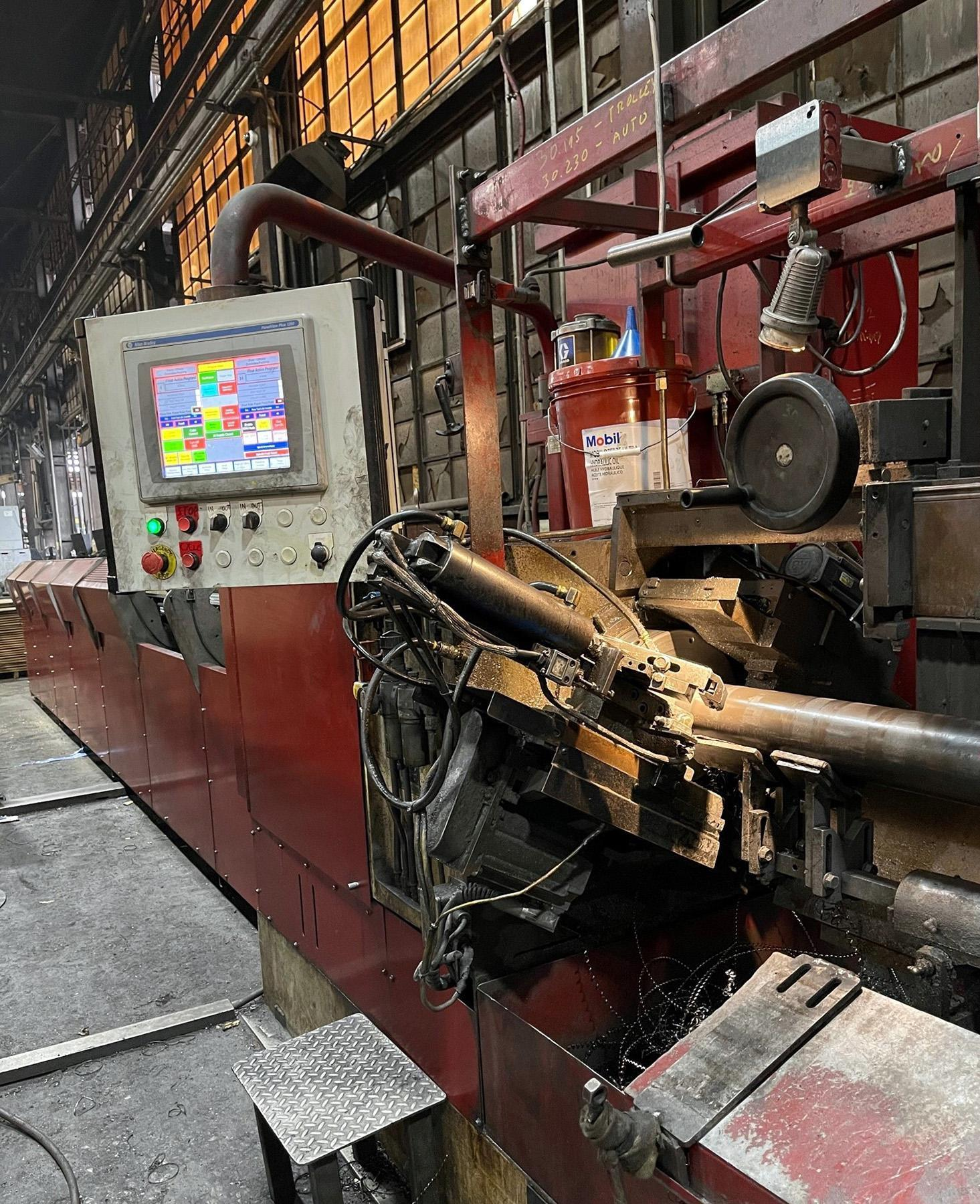 USED, 2014 MODERN MACHINE TOOL HIGH PRODUCTION TUBE CUT-OFF SYSTEM