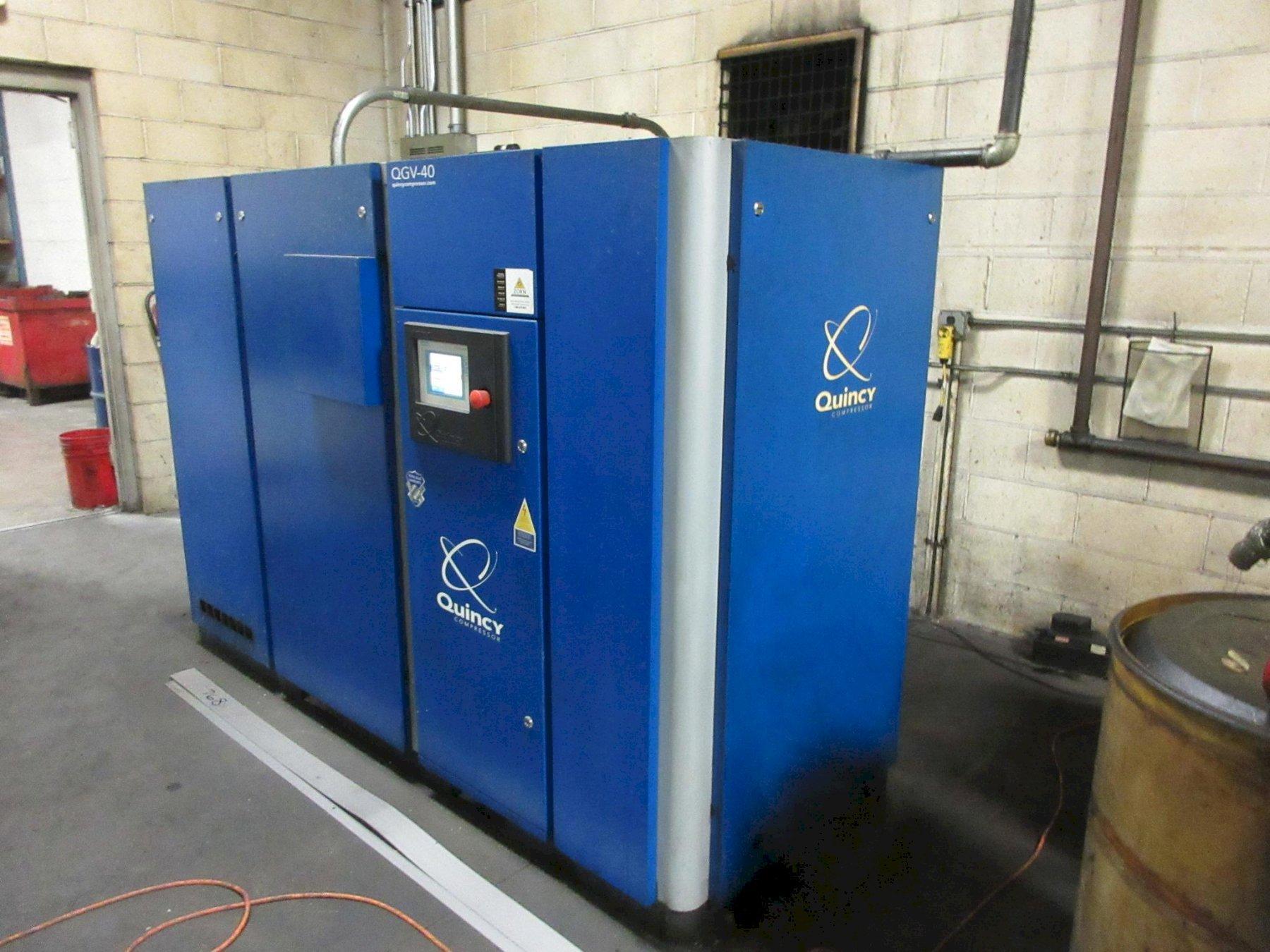 40 Hp Quincy QGV-40 Rotary Screw VSD air compressor