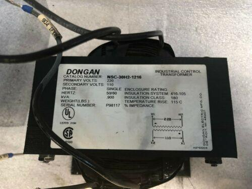 Dongan Industrial Control Transformer, Catalog # NSC-30H2-1216, Came off a working Okuma L1060 Turning Center