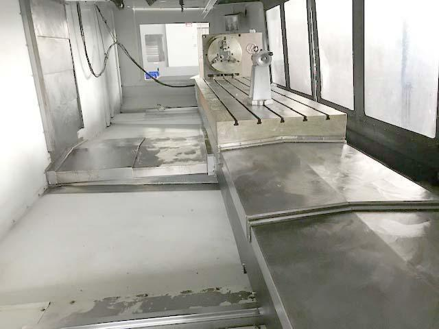 """Haas VF-11, Haas CNC Control, 28"""" x 120"""" Table, X=120"""", Y=40"""", Z=30"""", Cat-50, 30 ATC, Thru Spindle Coolant, 18"""" 4th Axis Rotary Table, New 2011."""