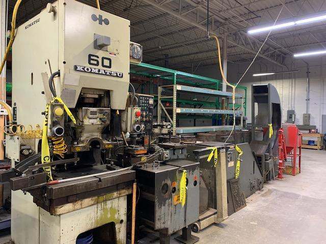 66 Ton Komatsu Model-OBS-60-2 Gap Frame Press