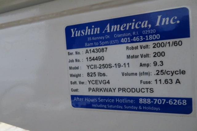 Yushin Used YCII-250D-19-11 Servo Dual Arm Robot, 180-300 ton, Yr. 2016