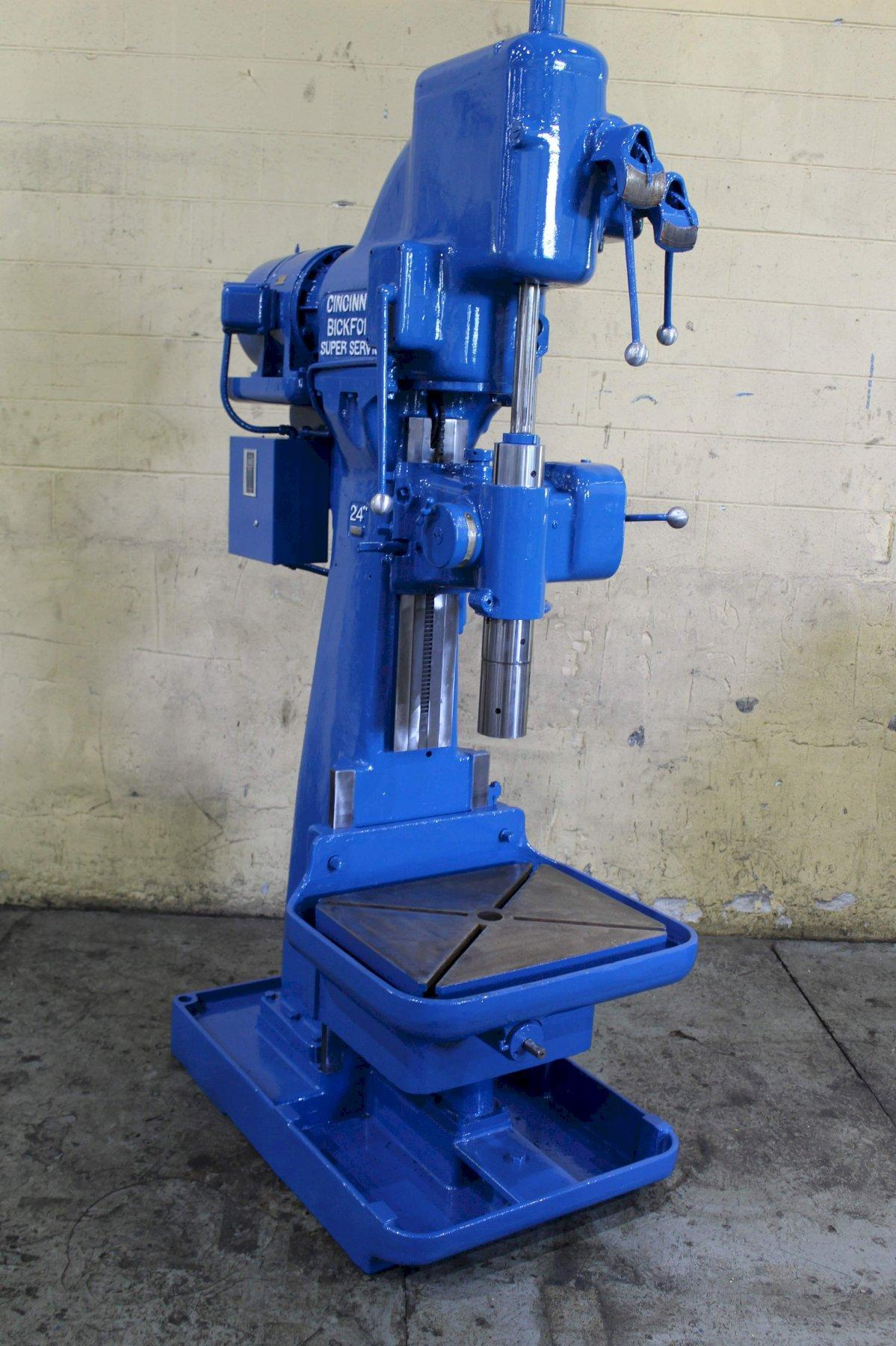24' CINCINNATI SINGLE SPINDLE DRILL: STOCK #71875