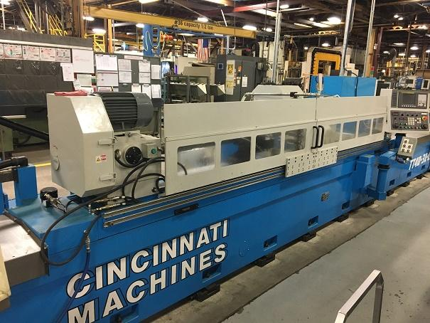 "Cincinnati TT40/30L-C2-S CNC Cylindrical Grinder, Fanuc 0iTF, 16"" Swing, 122"" Centers, Auto Balancer, Marposs In-Process, Touch probes, Shoulder Gauge,  Only 30 Hours of Use, 2017"