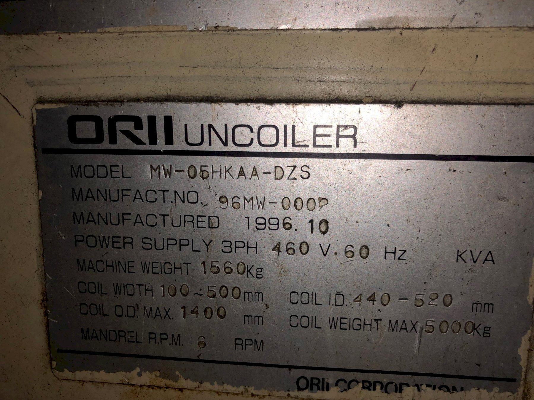 """11000 Lbs. x 19.6"""" ORII Servo Coil Feed Line, New 1996"""