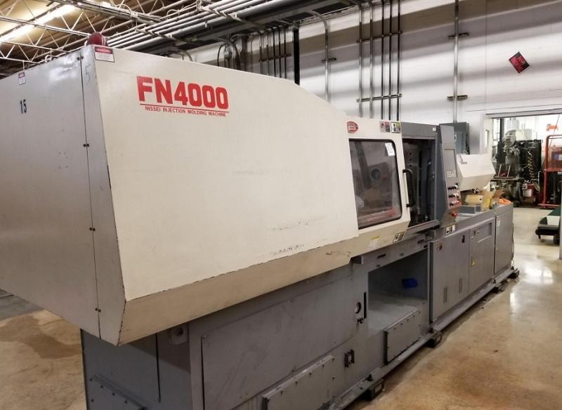 Nissei Used FN4000-36A Injection Molding Machine, 196 US ton, Yr. 2004, 14.8 oz.