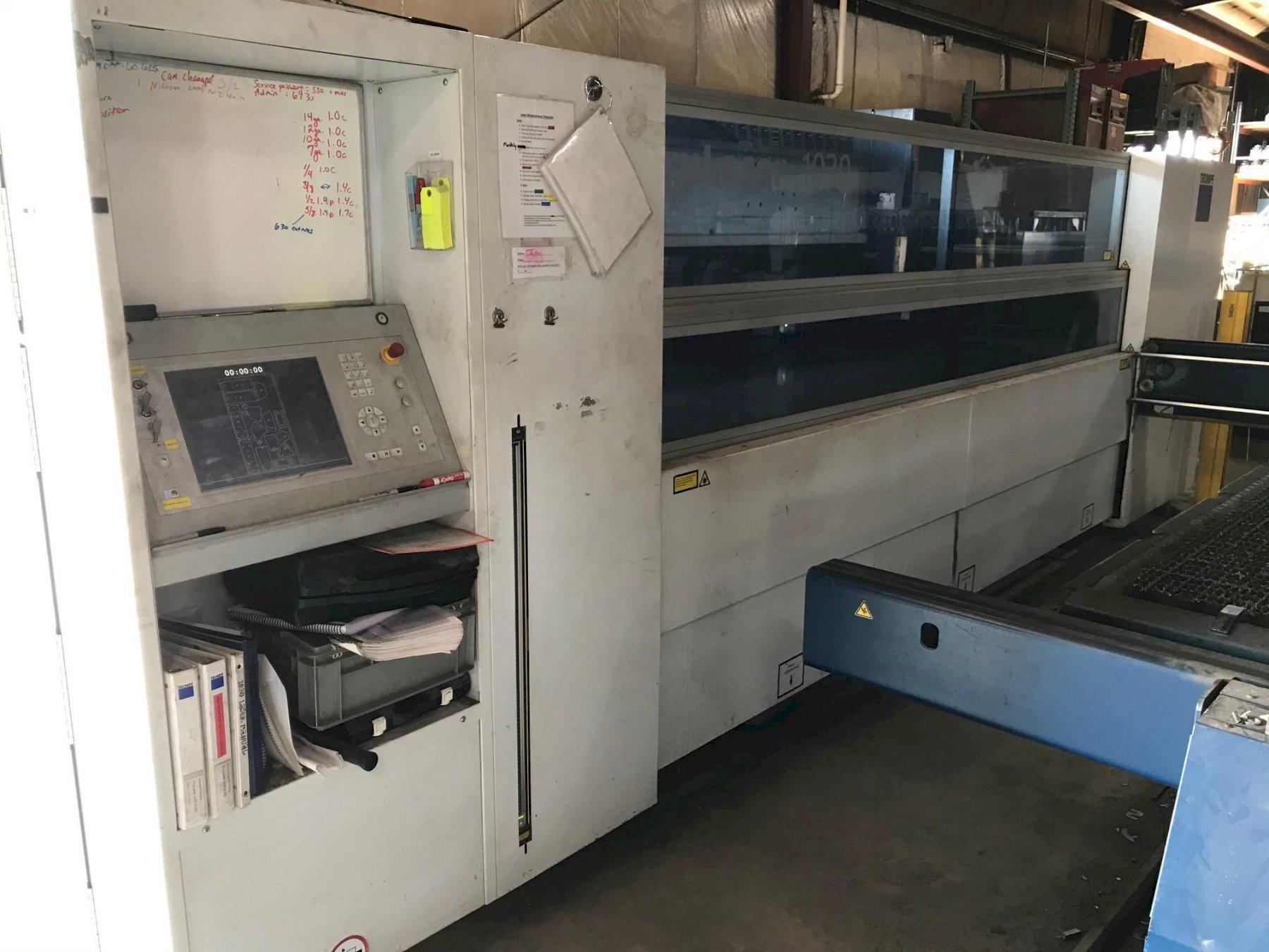2012 Trumpf Trulaser 1030, 5' x 10', 2500 Watt Co2 Laser