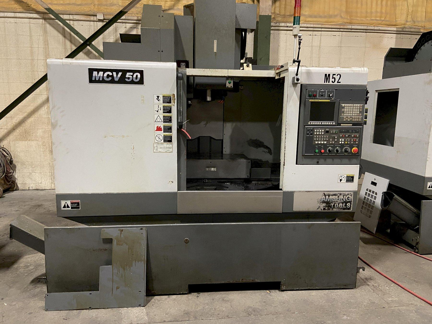 Samsung MCV-50 CNC Vertical Machining Center, Fanuc Oi, 35.43