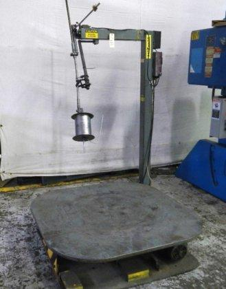 "6,000 LBS COILMATE #CM6048 PALLET UNCOILER, 48"" OD, 0 - 23 RPM VARIABLE, 110V, LOOP CONTROL, GUIDE ROLL, 1997 9992"