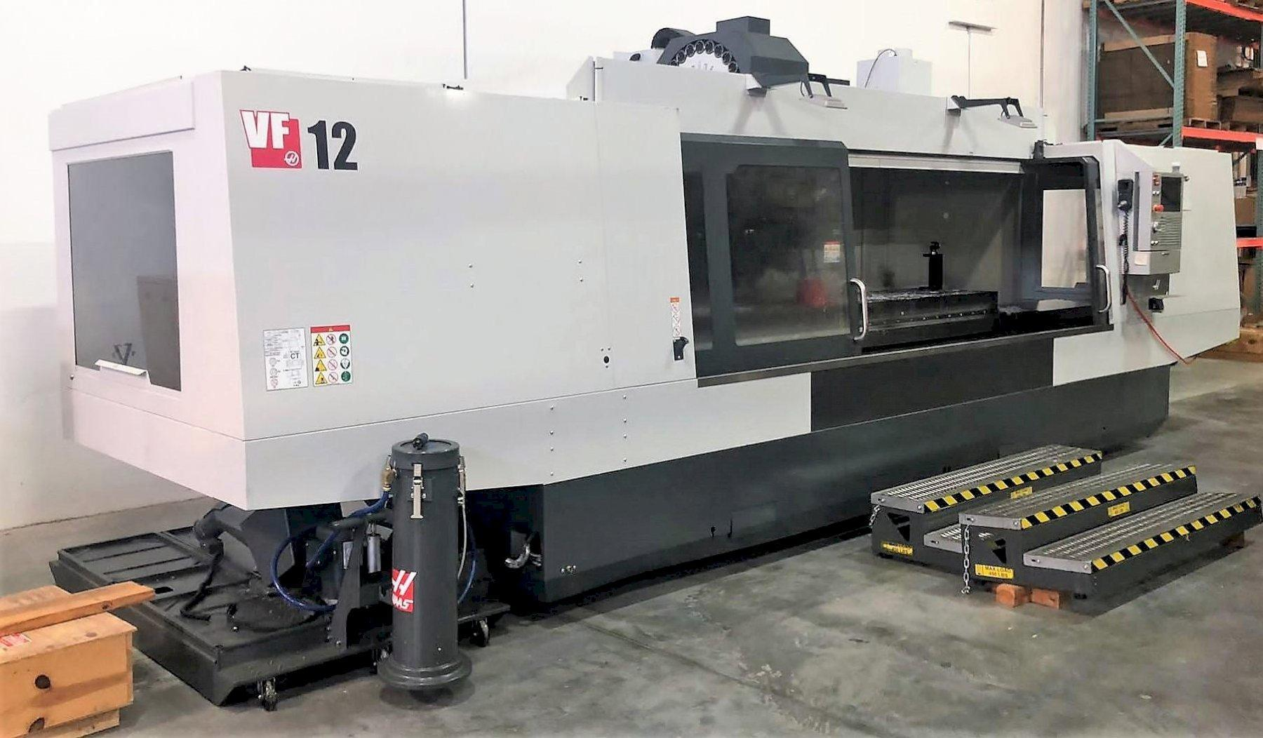 Haas VF-12 VMC 2019 With: 4th Axis Drive, Through Spindle Coolant, Wireless Probing System, High Speed Machining, and 32-GB Expanded Memory.