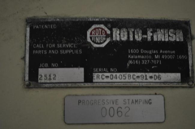10.7 CUBIC FOOT ROTO-FINISH HR COMBO VIBRATORY FINISHING MACHINE