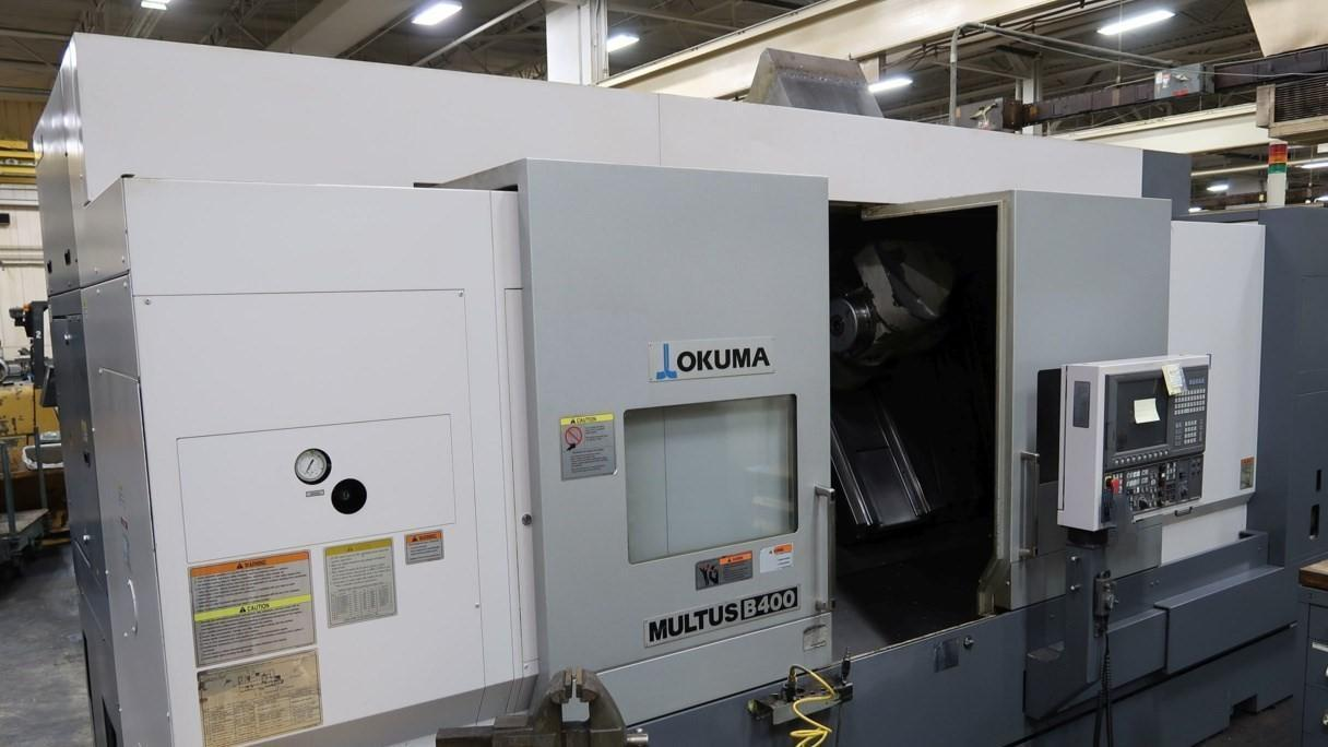 Okuma Multus B400 6-Axis CNC Turning/Milling Machine, OSP-200L Control, 27.9