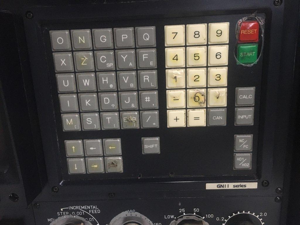 FANUC CONTROL PANEL GN11 SERIES MDI/CRT Unit, General Numeric Series 11, A02B-0076-C122