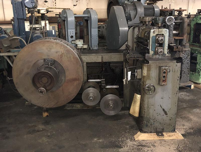 "COMPLETE STANAT S180 2.75"" X 18"" SLITTING LINE WITH SINGLE RECOILER - LITELL 2,000 LBS MOTORIZED COIL CRADLE, TOOLING, AND SEPARATING PLATES ALL INCLUDED"