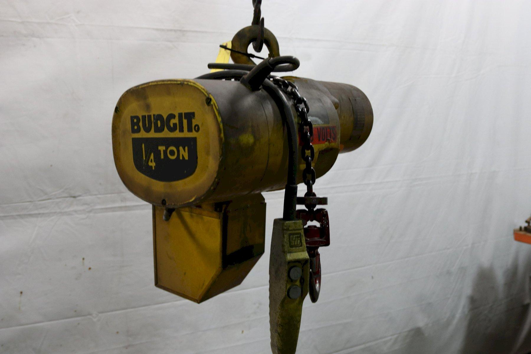 1/4 TON BUDGIT ELECTRIC POWERED CHAIN HOIST : STOCK #11993