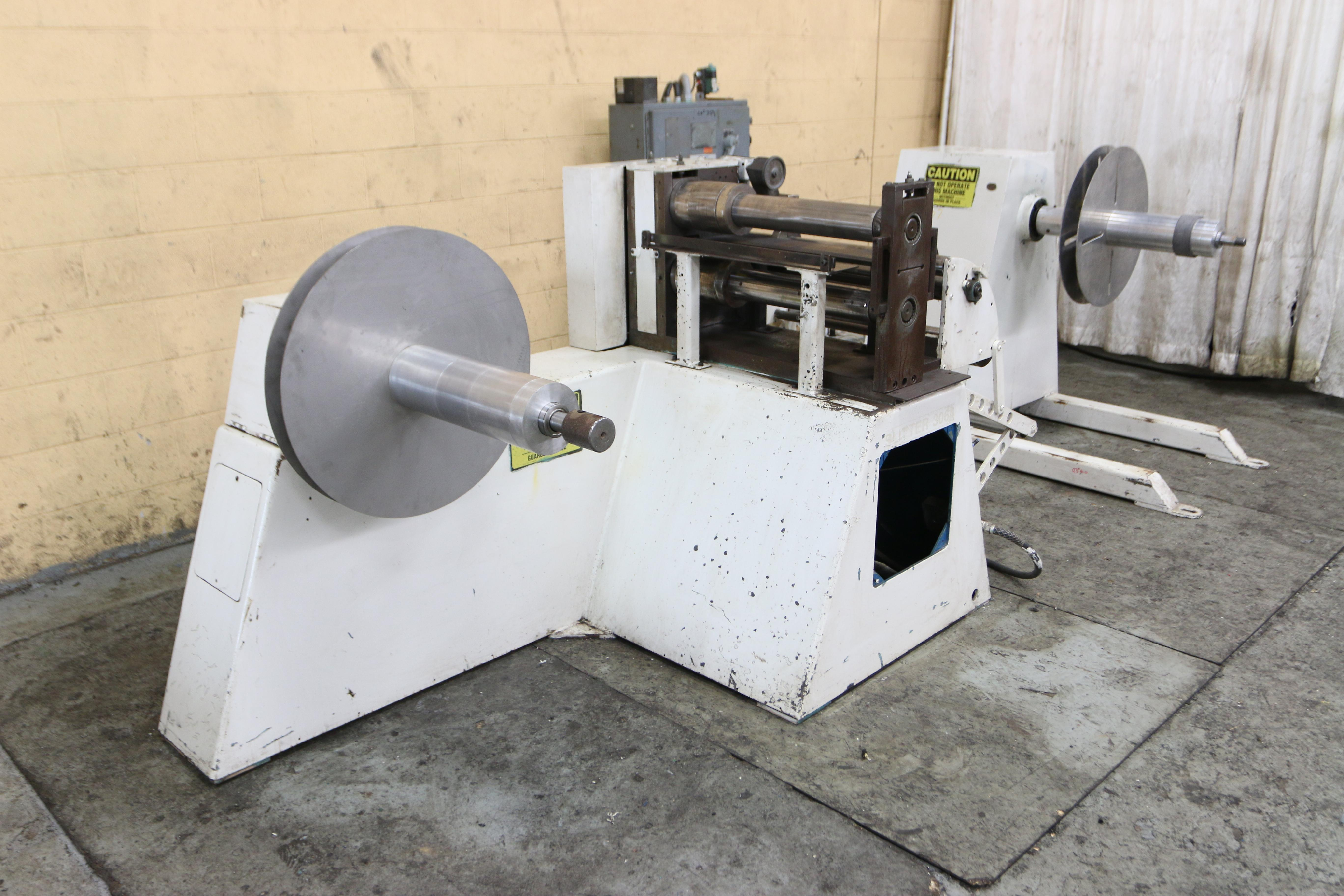 "18"" X 3-1/2"" WALLNER MODEL 4680 PRECISION PACKAGE SLITTING LINE: STOCK #10278"