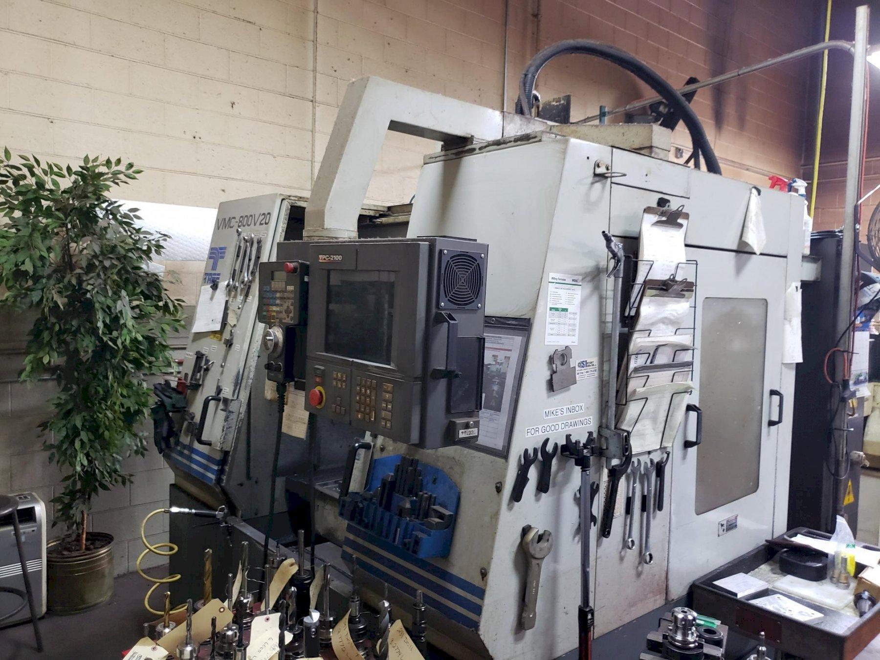 TREE VMC-800V20, 20X32X22 TRAVELS, 40 TAPER, 8,000 RPM, 20 ATC, SIEMENS ACRAMATIC 2100 CONTROL, NEW 2000