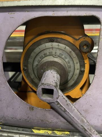 "40"" x 12 gauge Lodge and Shipley Power Shear"