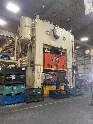 600 TON DANLY S4-600-132-72 STRAIGHT SIDE PRESS. STOCK # 0956120