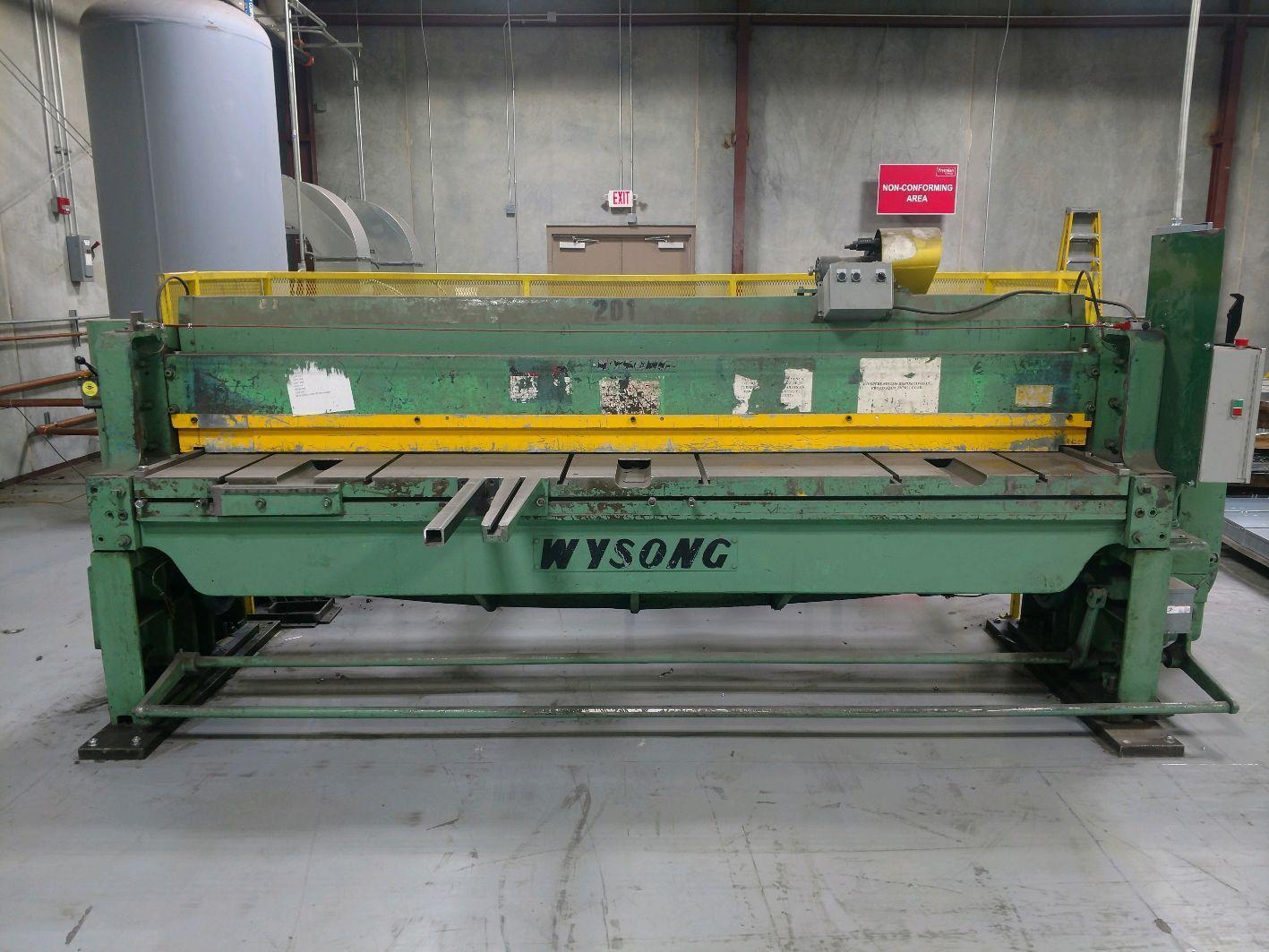 10' x 10ga Wysong 1010RD Mechanical Shear