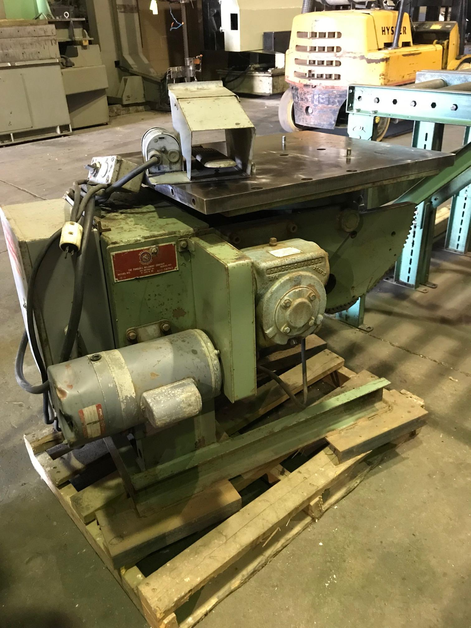 USED PANDJIRIS 1,500 LB. POWERED WELDING POSITIONER, STOCK# 10628, YEAR