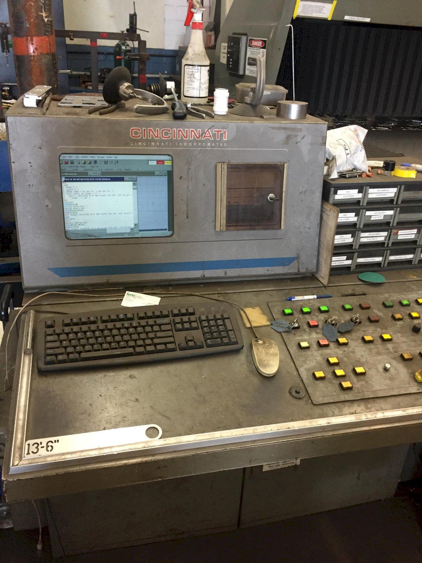 1998 Cincinnati CL707, 5x10, 2500 Watt C02 CNC Laser