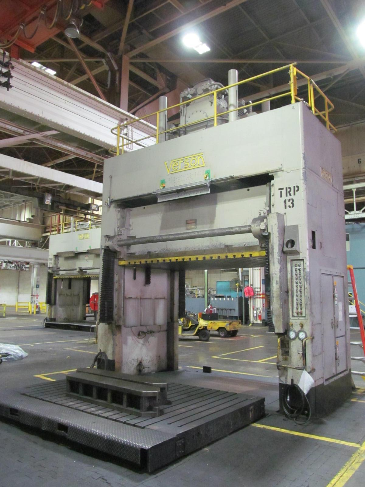 "50 TON VERSON HYDRAULIC SPOTTING PRESS, MODEL D2-50-132-84, 48"" STR, 36"" SH, 132"" X 84"" BED"