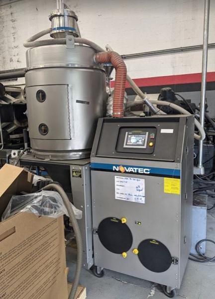 Novatec Used NWB-200-DC+ Material Dryer, Desiccant, Approx 200 lbs/hr, 460V, Yr. 2017