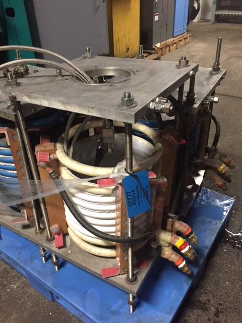 """FURNACE COIL 13"""" DIAMETER WITH 8 TURNS IN STAINLESS STEEL ENCLOSURE"""