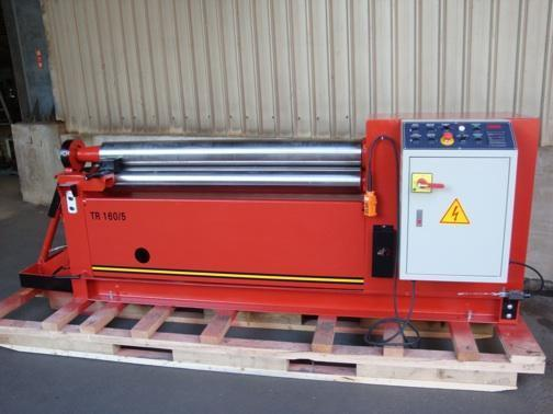 (1) NEW LEMAS HYDRAULIC 3-ROLL INITIAL-PINCH PLATE BENDING ROLL, MODEL #: TR 160/5