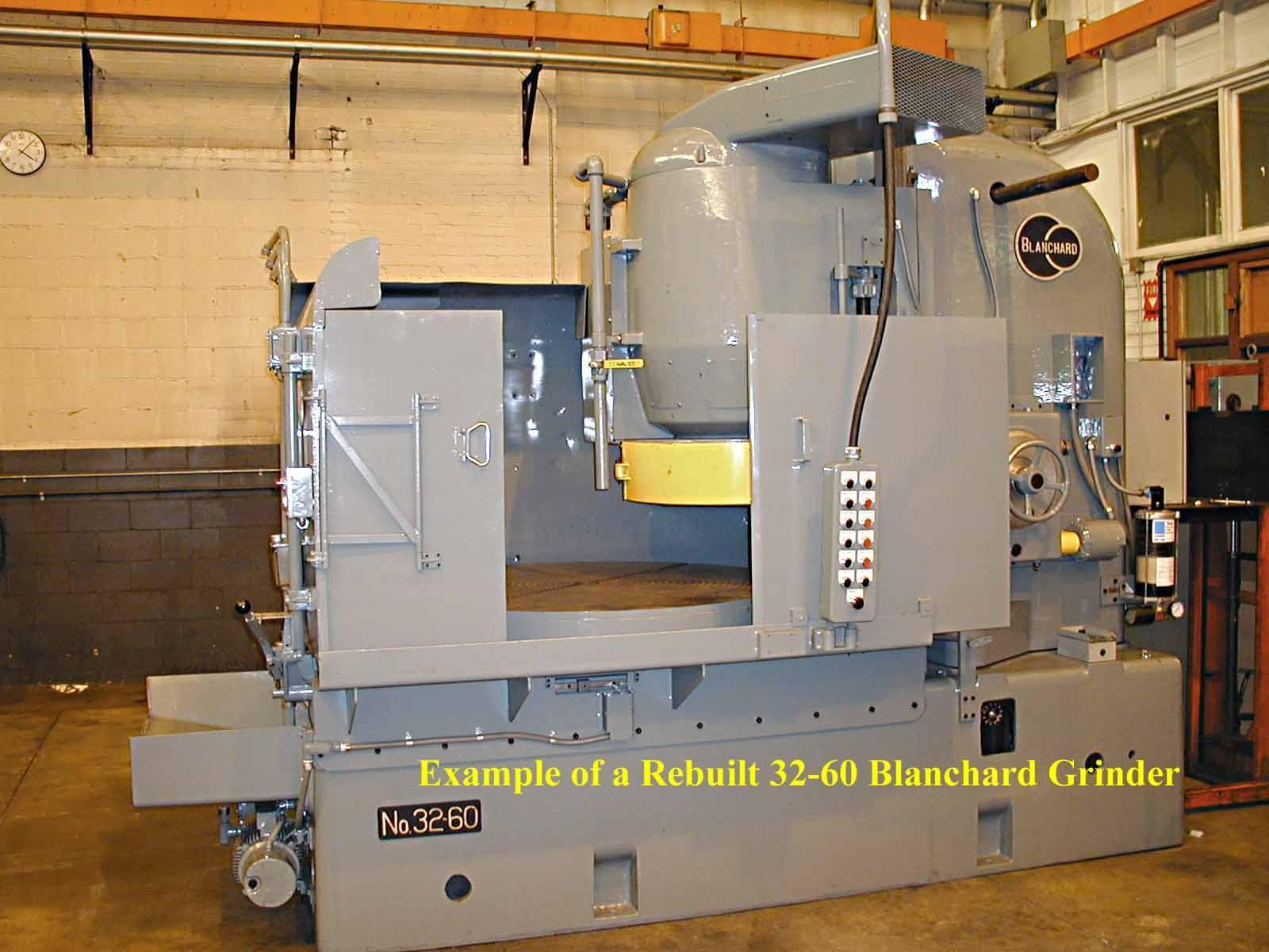 Blanchard #32-60, 60″ vertical Spindle Rotary Surface Grinder, Re-Man w/ Warranty, 68