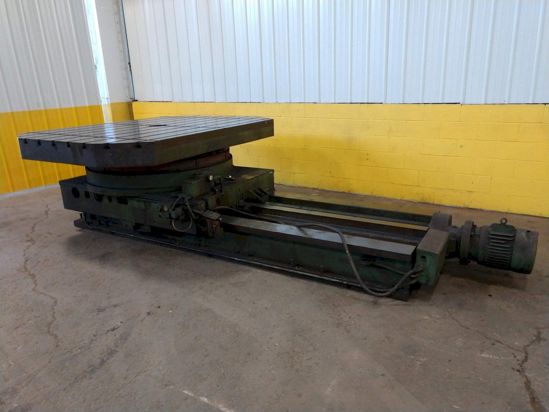 "72"" X 96"" TOS CROSS-SLIDING POWERED T-SLOTTED ROTARY TABLE: STOCK #13441"