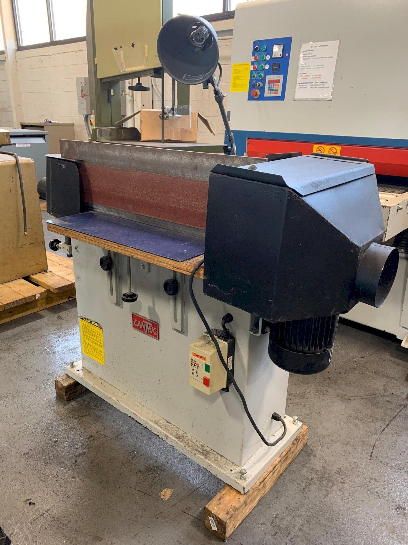 "USED CANTEK 6"" x 108"" EDGE SANDING MACHINE FOR WOOD, Stock # 10753"