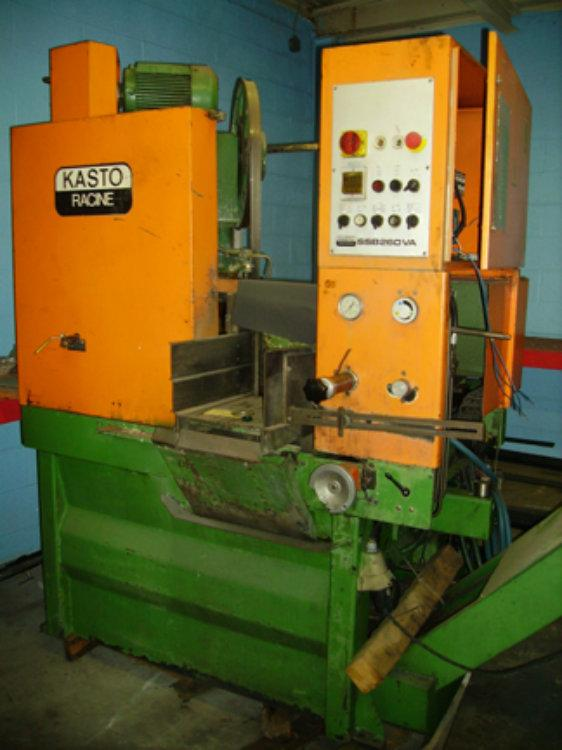 "USED KASTO FULLY AUTOMATIC BANDSAW MODEL SSB260VA, 10.25"" x 10.25"", YEAR 1985, STOCK 4004"