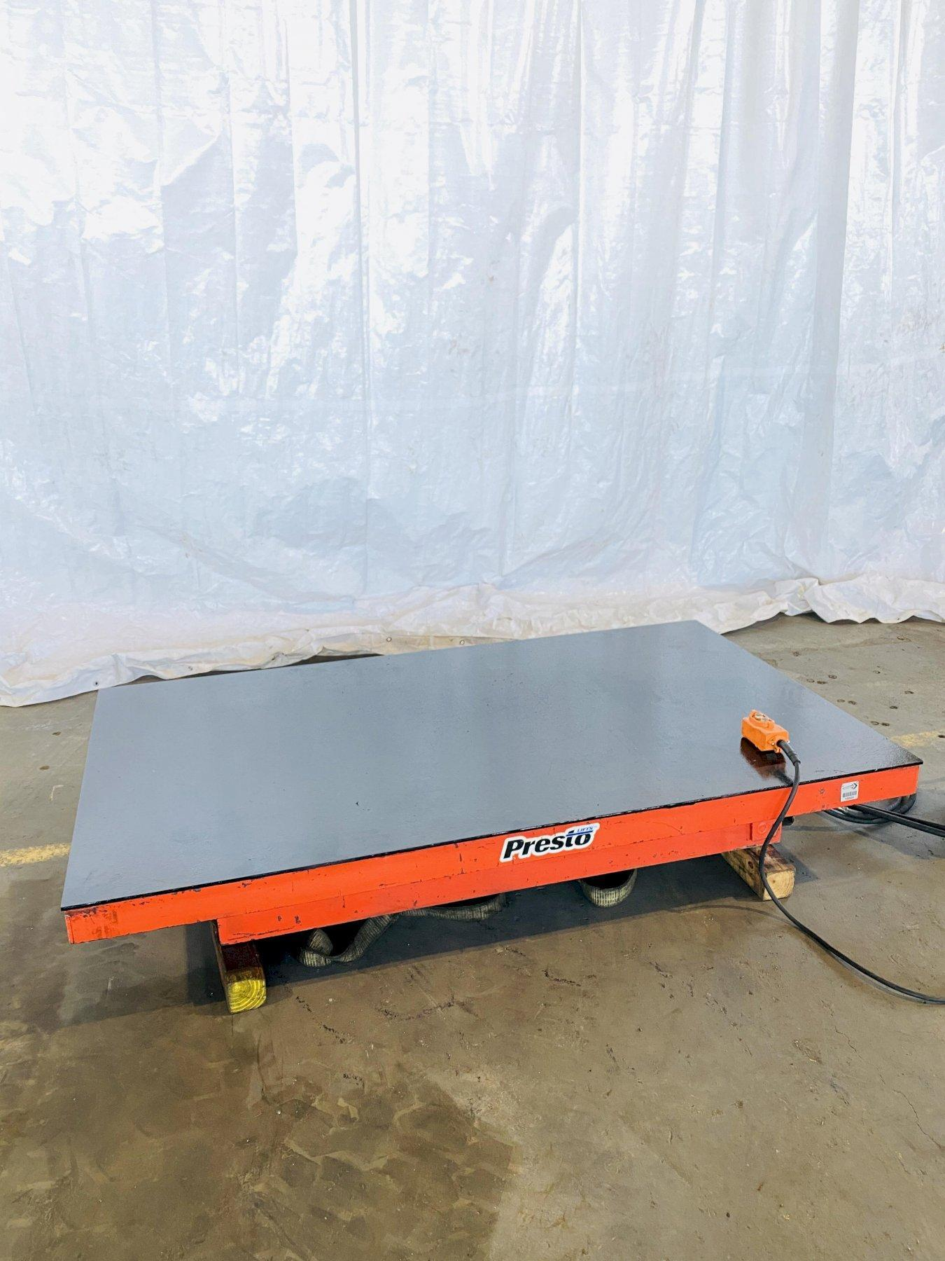 "10,000 LB X 48"" X 96"" PRESTO HYDRAULIC LIFT TABLE. STOCK # 1162120"