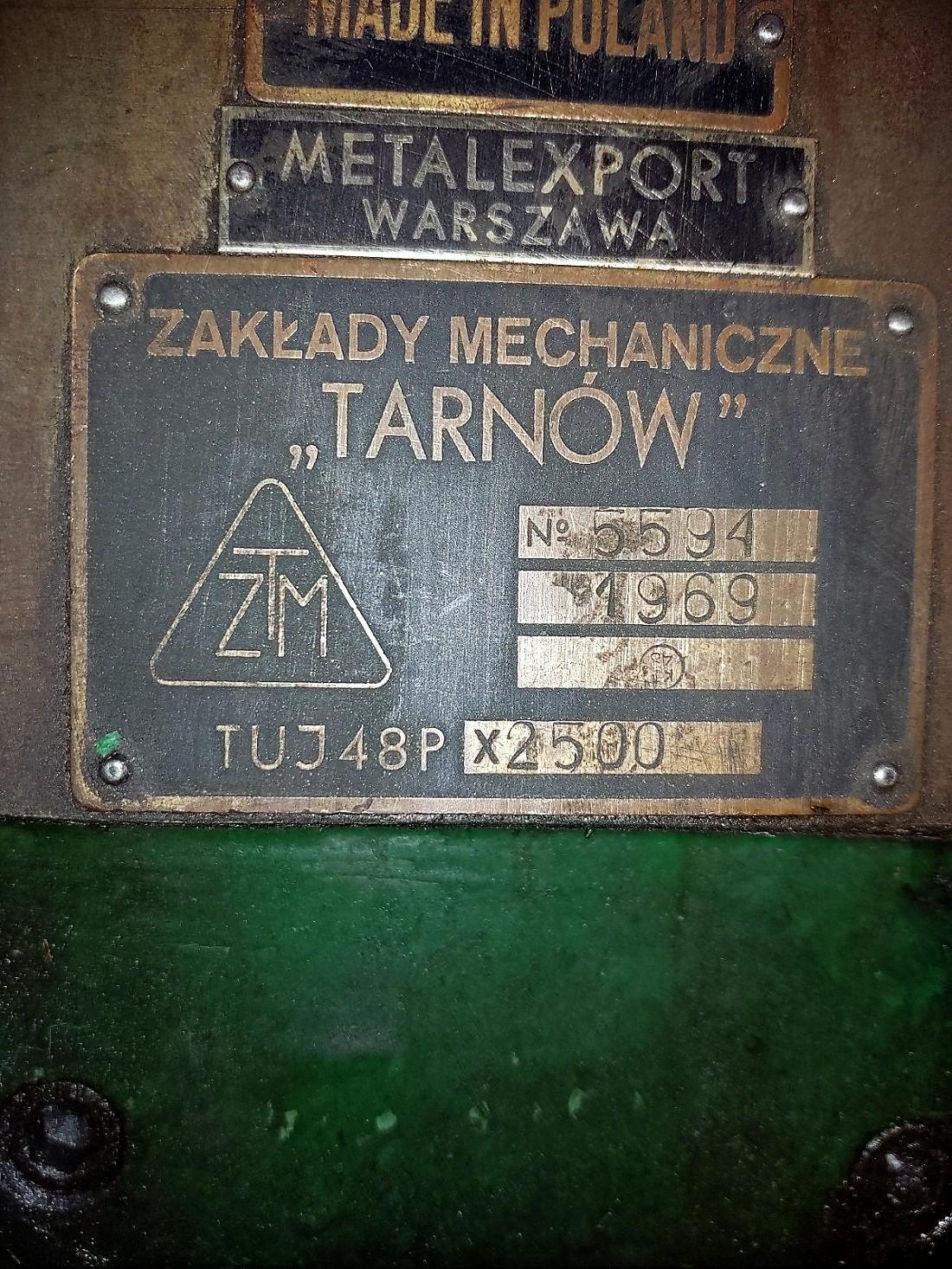 Tarnow Model TUJ 48 Px2500 Gap Bed Engine Lathe